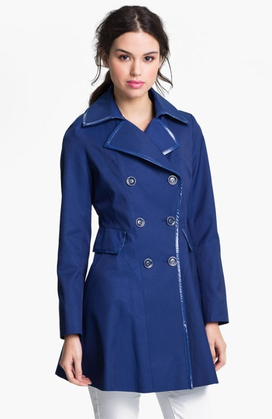 Via-Spiga-Patent-Trim-Trench-Coat