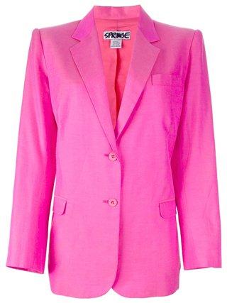 Stephen Sprouse Vintage Oversized Pink Blazer