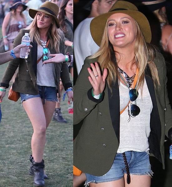 Hilary Duff wearing a tailored blazer