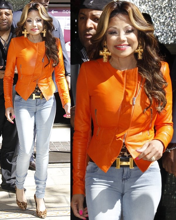 LaToya Jackson at The Grove for an appearance on television show Extra on April 16, 2013