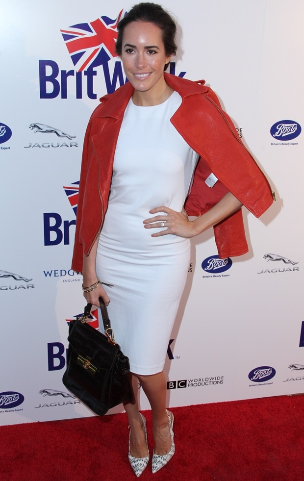 """Louise Roe at the """"A Salute to Old Hollywood"""" party to celebrate the BritWeek 2013 launch on April 23, 2013"""