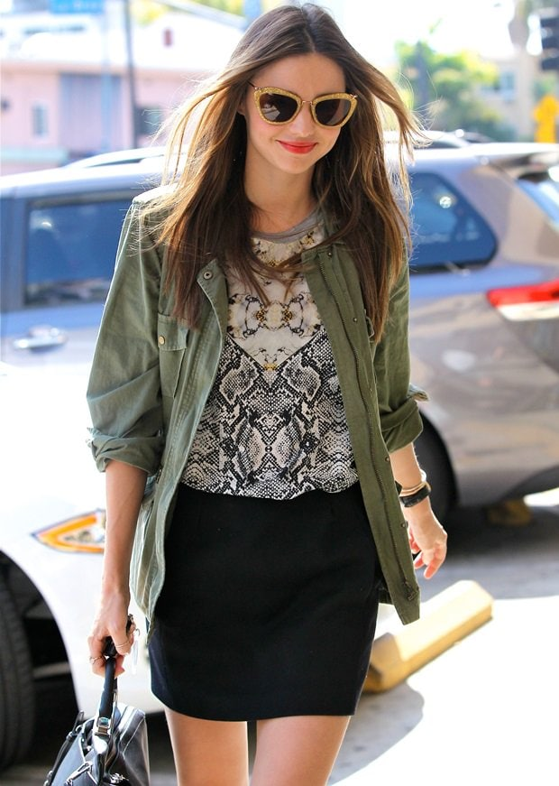 Miranda Kerr is seen heading to a nail salon in Hollywood