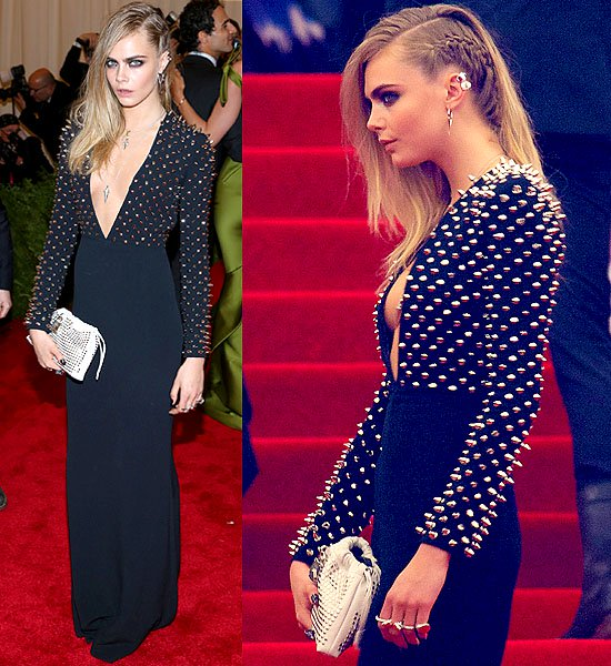 """Cara Delevingne attends the Costume Institute Gala for the """"PUNK: Chaos to Couture"""" exhibition"""
