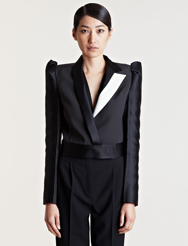 Lanvin Contrast Panel Cropped Jacket