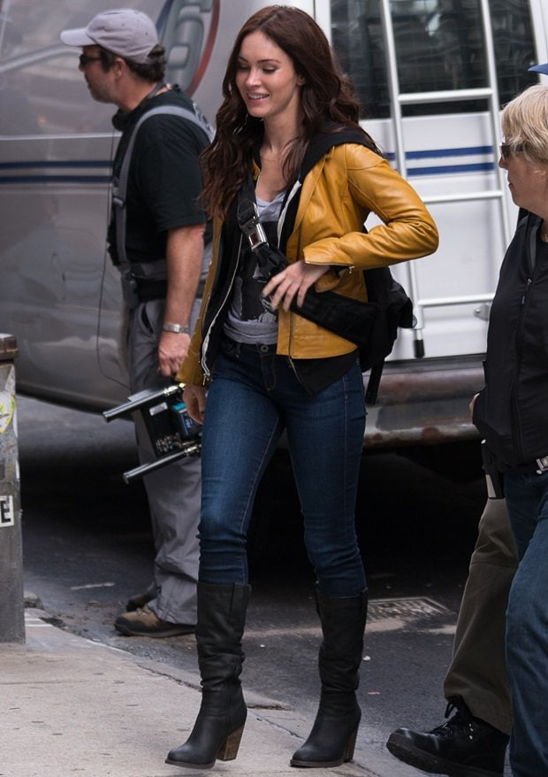 Megan Fox on the set of the 'Teenage Mutant Ninja Turtles' in New York City on May 9, 2013