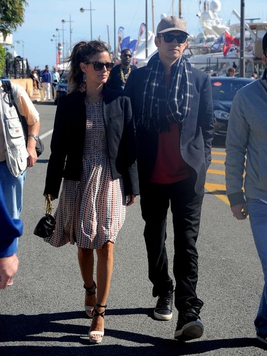 Rachel Bilson and her boyfriend, Hayden Christensen, at Croisette in Cannes