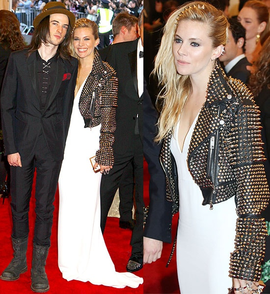 "Tom Sturridge and Sienna Miller attend the Costume Institute Gala for the ""PUNK: Chaos to Couture"" exhibitio"