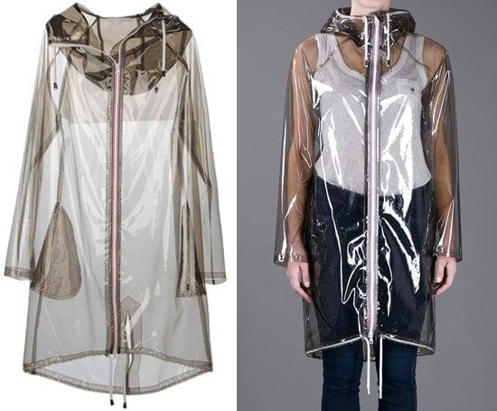 Wanda Nylon Long Hooded Raincoat