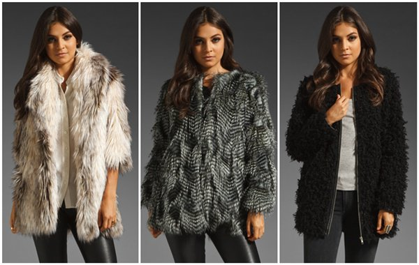 Faux Fur Jackets inspired by Kate Moss