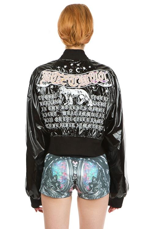 KTZ 'Poet' Embroidered Short Bomber Jacket