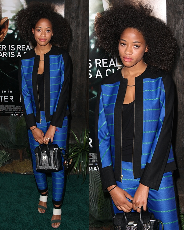 Kilo Kish at the premiere of 'After Earth' held at the Ziegfeld Theatre in New York City on May 30, 2013