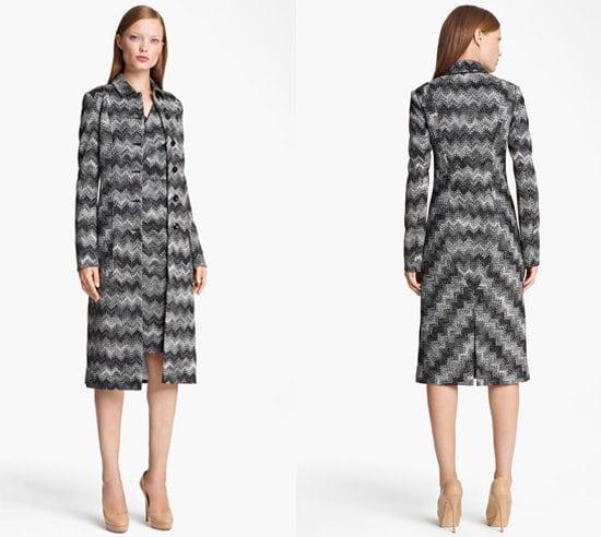 Missoni Long Snake Stitch Coat
