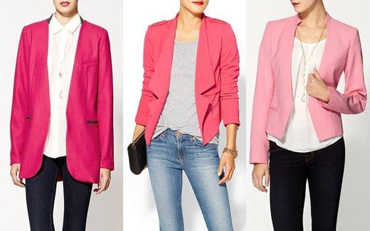 Pink Blazer Outerwear