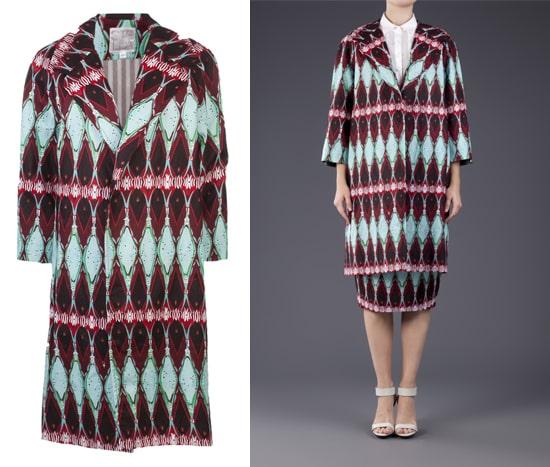 Stella Jean Printed Long Coat