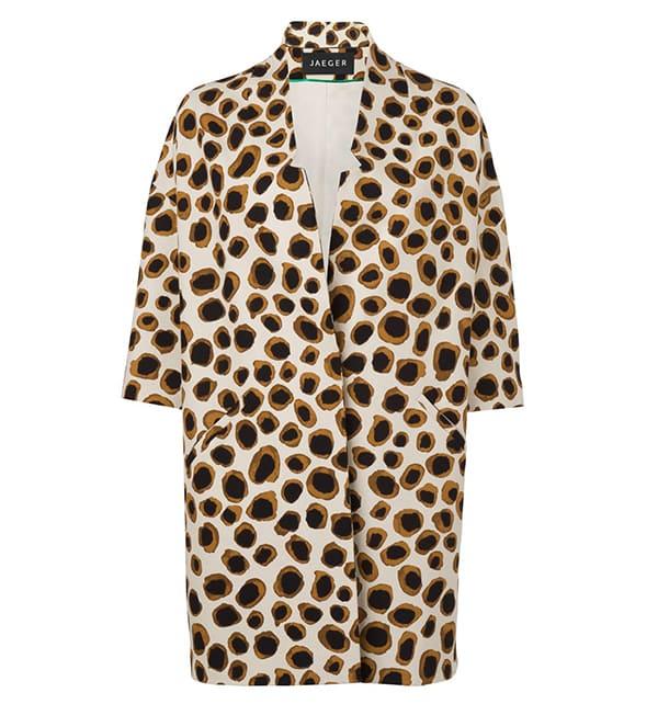 Jaeger Spring Leopard Print Coat