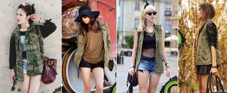 9 Bloggers and Celebrities Show Best Ways to Wear a Military Jacket