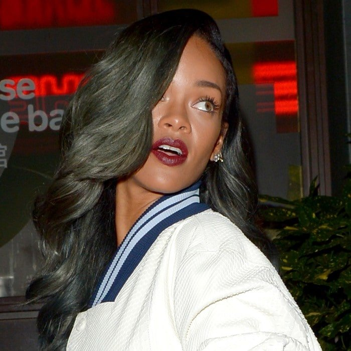 Rihanna enjoying a night out at Cirque le Soir with friends in London on July 20, 2013