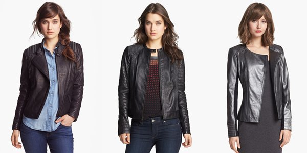 Black Leather Jacket Set