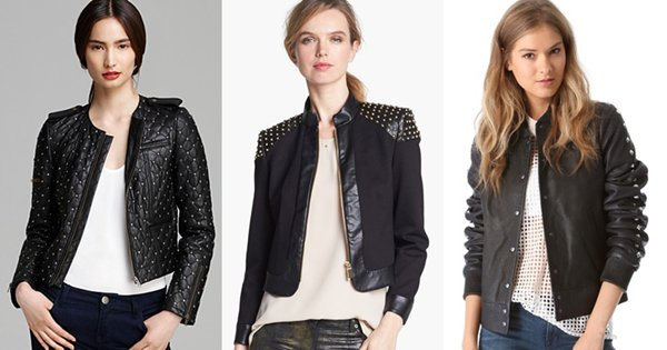 Black Studded Jackets