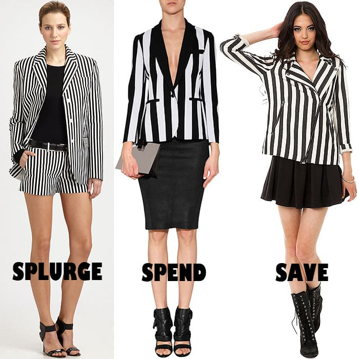 Black and white striped jackets