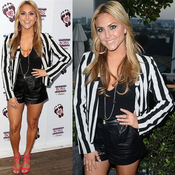 Cassie Scerbo at the BOBS from Skechers Summer Soiree at Skybar at the Mondrian in Los Angeles, California, on August 21, 2013