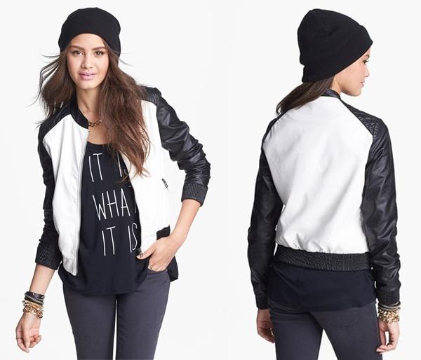 Jolt Faux Leather Colorblock Jacket