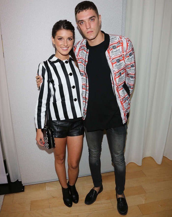 Shenae Grimes and husband Josh Beech at the InStyle Summer Soiree at the Mondrian Hotel in Los Angeles, California, on August 15, 2013