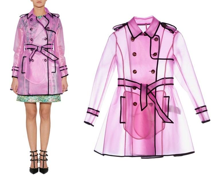 VALENTINO R.E.D. Clear Petunia Rain Coat