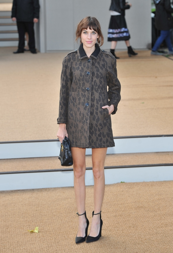 Alexa Chung at Burberry Prorsum s/s 2014 during London Fashion Week SS14 in London, United Kingdom, on September 16, 2013