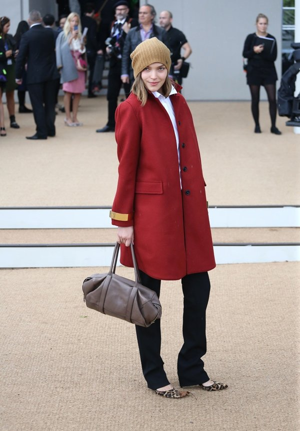 Arizona Muse at Burberry Prorsum s/s 2014 during London Fashion Week SS14 in London, United Kingdom, on September 16, 2013