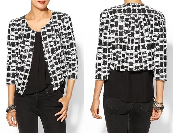 Ark & Co. Sequin Checked Jacket