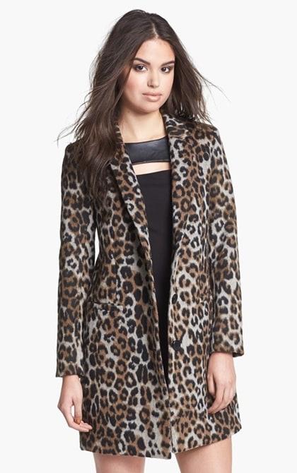 BB Dakota Leopard Print Coat