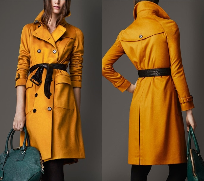 Burberry Long Cashmere Trench Coat