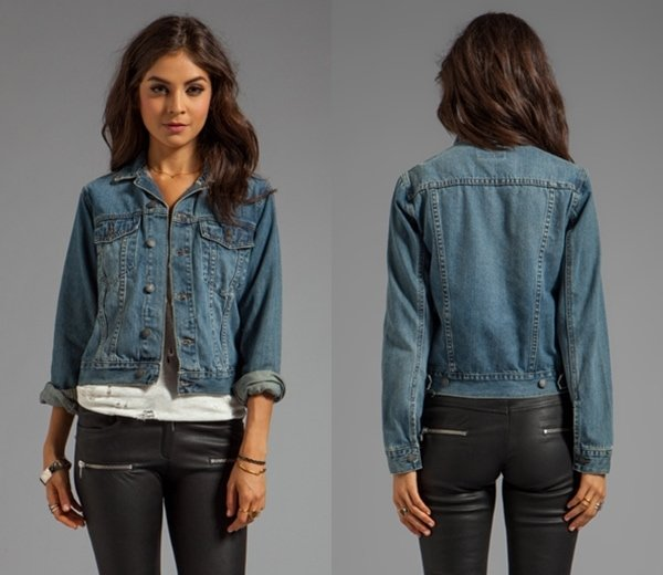 Cheap Monday Vital Denim Jacket in Heavy Worn