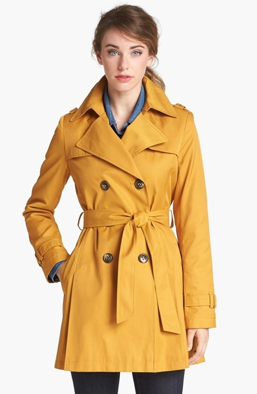 DKNY Double Breasted Trench