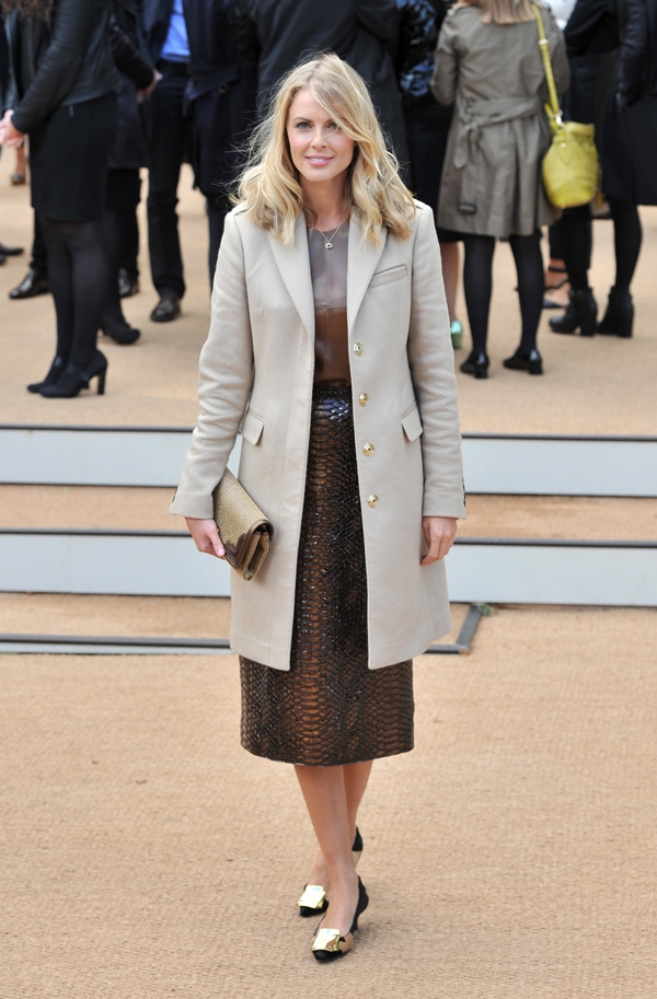 Donna Air at Burberry Prorsum s/s 2014 during London Fashion Week SS14 in London, United Kingdom, on September 16, 2013