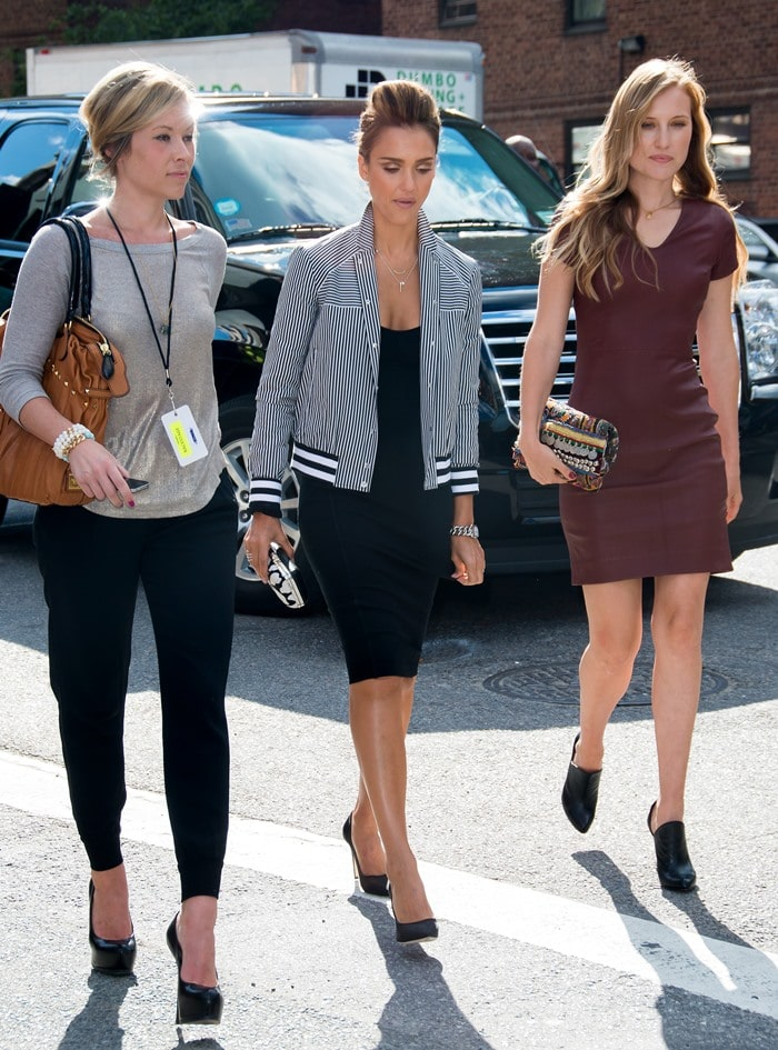 Jessica Alba attends the Diane Von Furstenberg fashion show during Mercedes-Benz Fashion Week Spring 2014 at The Theatre at Lincoln Center on September 8, 2013 in New York City
