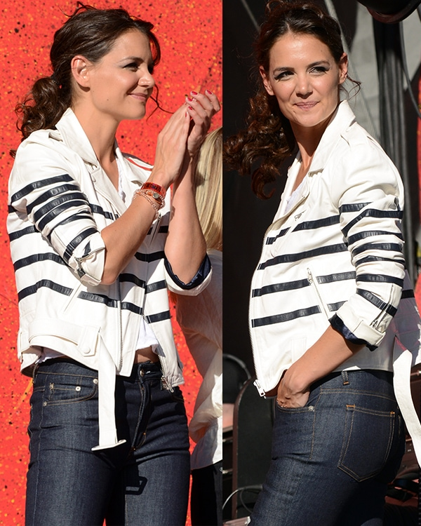 Katie Holmes at the 2013 Global Citizen Festival in Central Park, Manhattan, New York City, on September 28, 2013