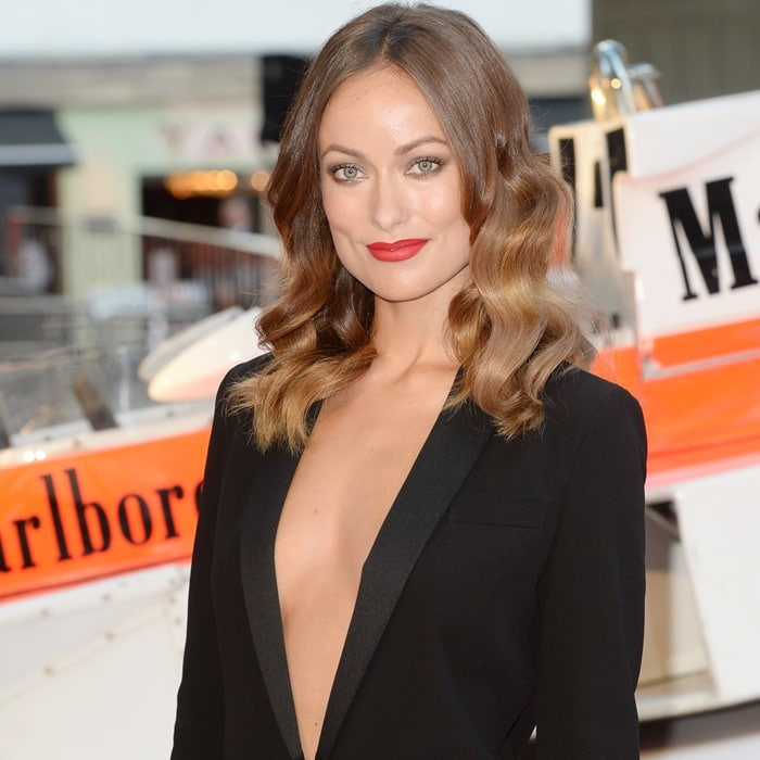 Olivia Wilde at the world premiere of 'Rush' held at the Odeon Leicester Square in London, England, on September 2, 2013