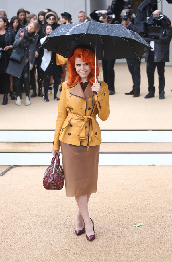 Paloma Faith at Burberry Prorsum s/s 2014 during London Fashion Week SS14 in London, United Kingdom, on September 16, 2013