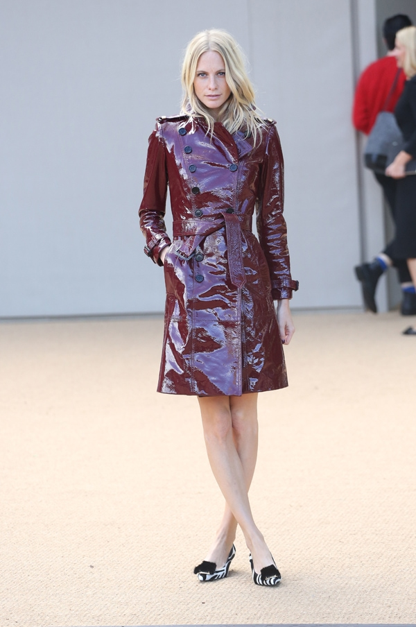Poppy Delevingne at Burberry Prorsum s/s 2014 during London Fashion Week SS14 in London, United Kingdom, on September 16, 2013