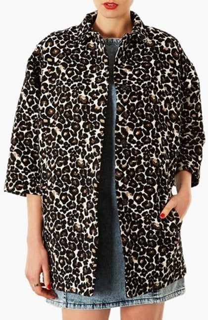 Topshop Lexi Animal Pattern Coat