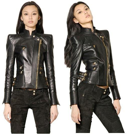 Balmain Nappa Leather Perfecto Jacket