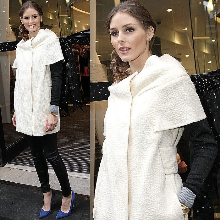 Olivia Palermo at the opening of Harvey Nichols' new store, Beauty Bazaar, in London
