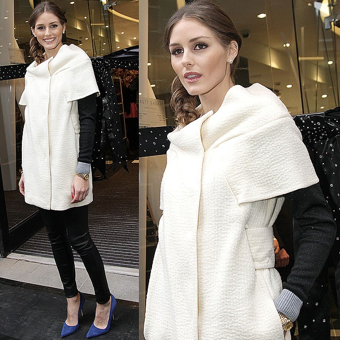 Olivia Palermo at the opening of Harvey Nichols' new store, Beauty Bazaar, in London, England, on November 7, 2012