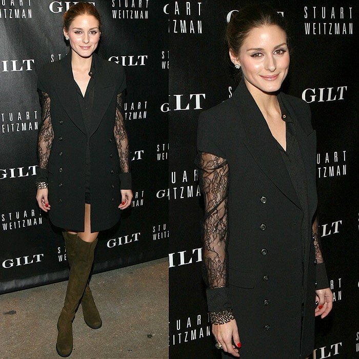 Olivia Palermo at the Stuart Weitzman & Gilt digital pop-up shop launch held at Neuhouse in New York City on October 16, 2013