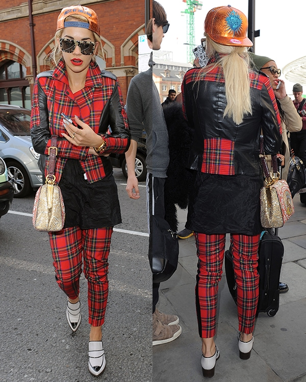 Rita Ora arriving at St Pancras Station in London on a Eurostar train from Paris on October 2, 2013