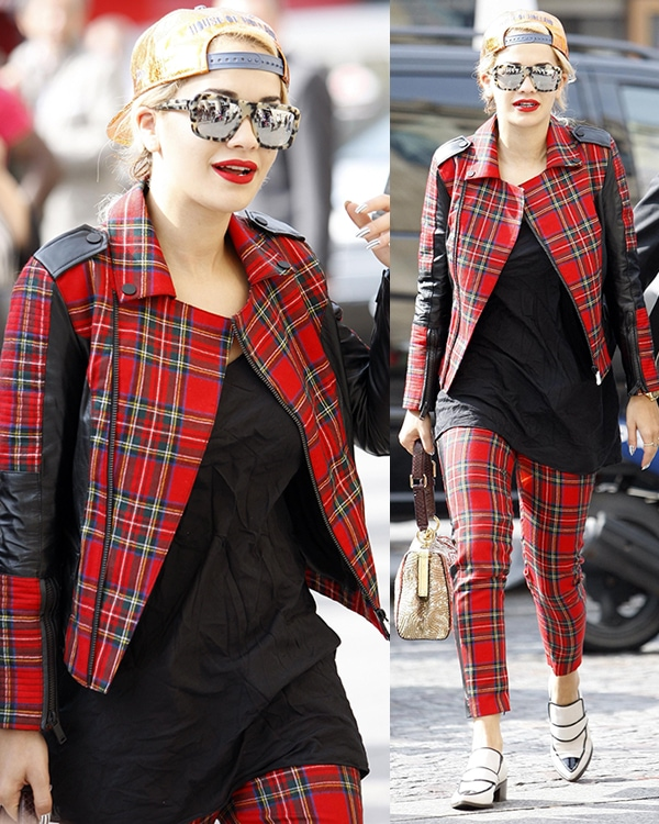 Rita Ora arriving at Gare du Nord in Paris, France, on October 2, 2013