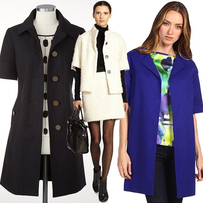 3 short sleeve coats for women