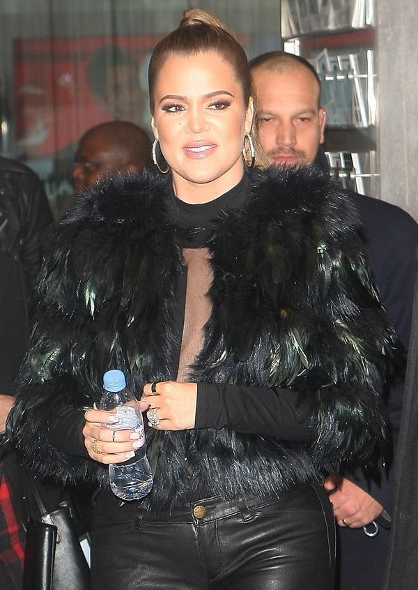 Khloe Kardashian outside BBC Radio1
